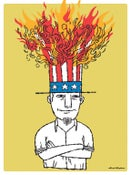 Image of Uncle Sam on Fire Poster