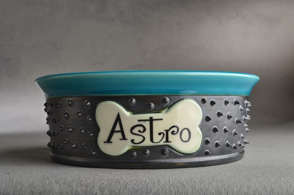 Image of Personalized Spiky Dog Bowl Single