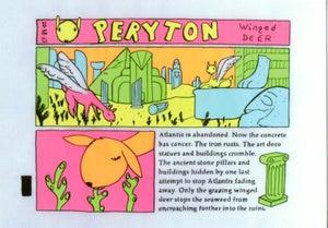 Image of Peryton comic postcard by Simon Daly