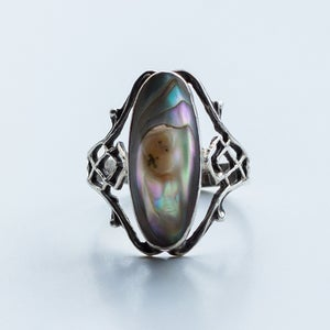 Image of Antique Art Nouveau Blister Pearl Ring