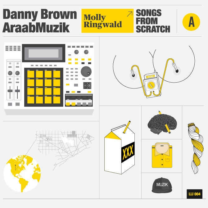 Image of Danny Brown & Araabmuzik - Songs From Scratch - Love Letters Ink 004