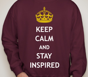 "Image of ""Keep Calm and Stay Inspired"" Crewneck"