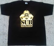 Image of Sub Soldiers Black/Gold Foil Logo Mens T-shirt