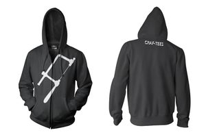 Image of black zipper front hoodie (seconds*)