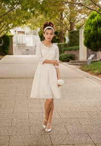 Image of Cotton Lace Casual Wedding Dress - Made to Order