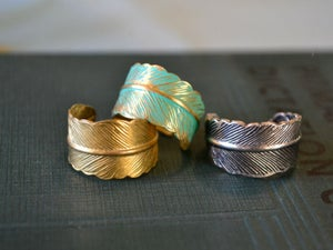 Image of Hammered Feather Ring