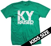 Image of KY Raised Kids Tee in Teal and White