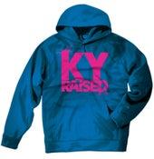 Image of KY Raised Teal / Hot Pink Hooded Sweatshirt