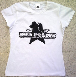 Image of Dub Police White/Black Womans Logo T-shirt