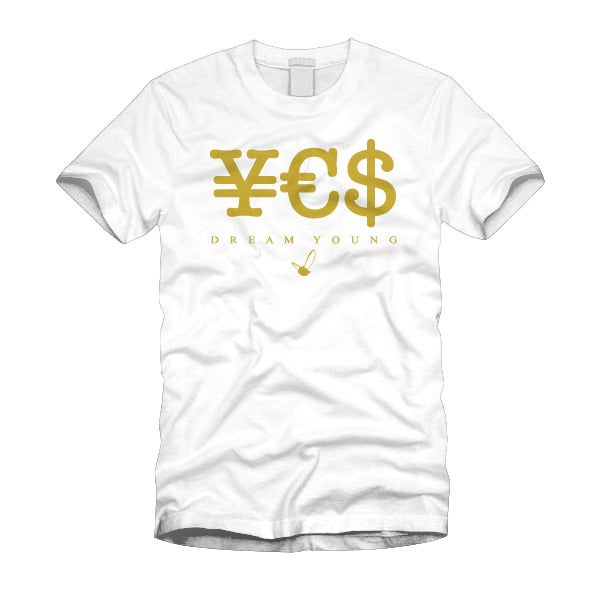 "Image of ""¥€$"" WHITE/TEE"