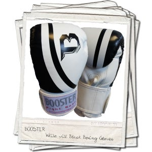 Image of Booster Pro Range Thai Leather Boxing Gloves White