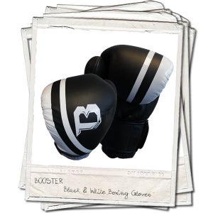 Image of Booster Pro Range Thai Leather Boxing Gloves Black