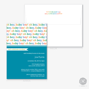 Image of Oh Baby! Baby Shower | Invitations