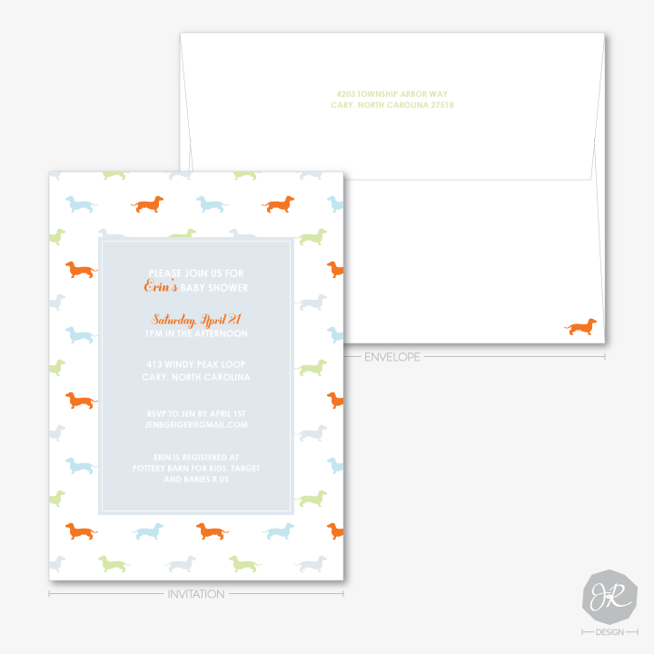 Image of Doggie Baby Shower   Invitations