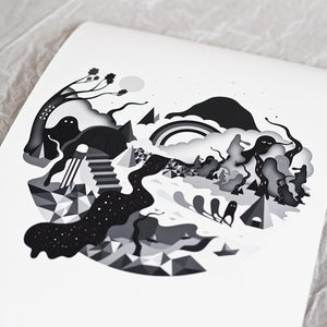 Image of Merging Giclée print on 310gsm Somerset Velvet Paper