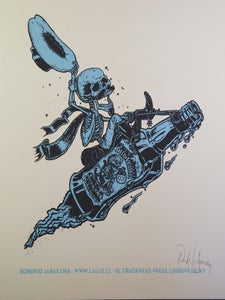 Image of SCHNOCKERED! two color print
