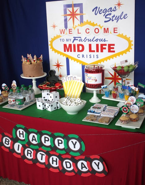 Image of Casino/ Vegas Birthday Party- Welcome to my Fabulous Birthday!