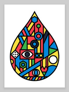 Image of Raindrop Giclée print (No.2) on 310gsm Somerset Velvet Paper