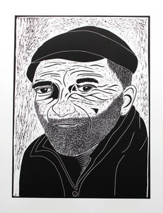 Image of Fisherman Lino Cut