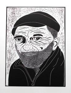 Image of Fisherman Lino Cut