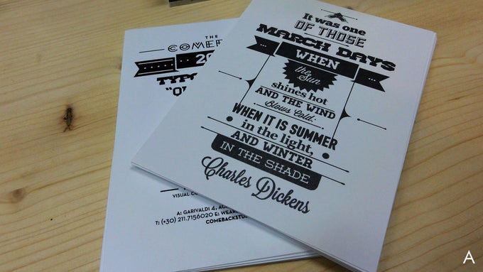 Image of 2013 Typographic / Quotation Calendar Postcards