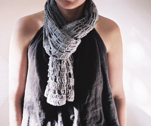Image of Grey Organic Cotton SCARF