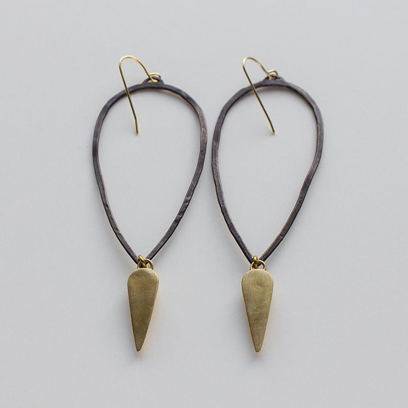 Image of K/LLER Collection Hammered Teardrop Earring with Spike