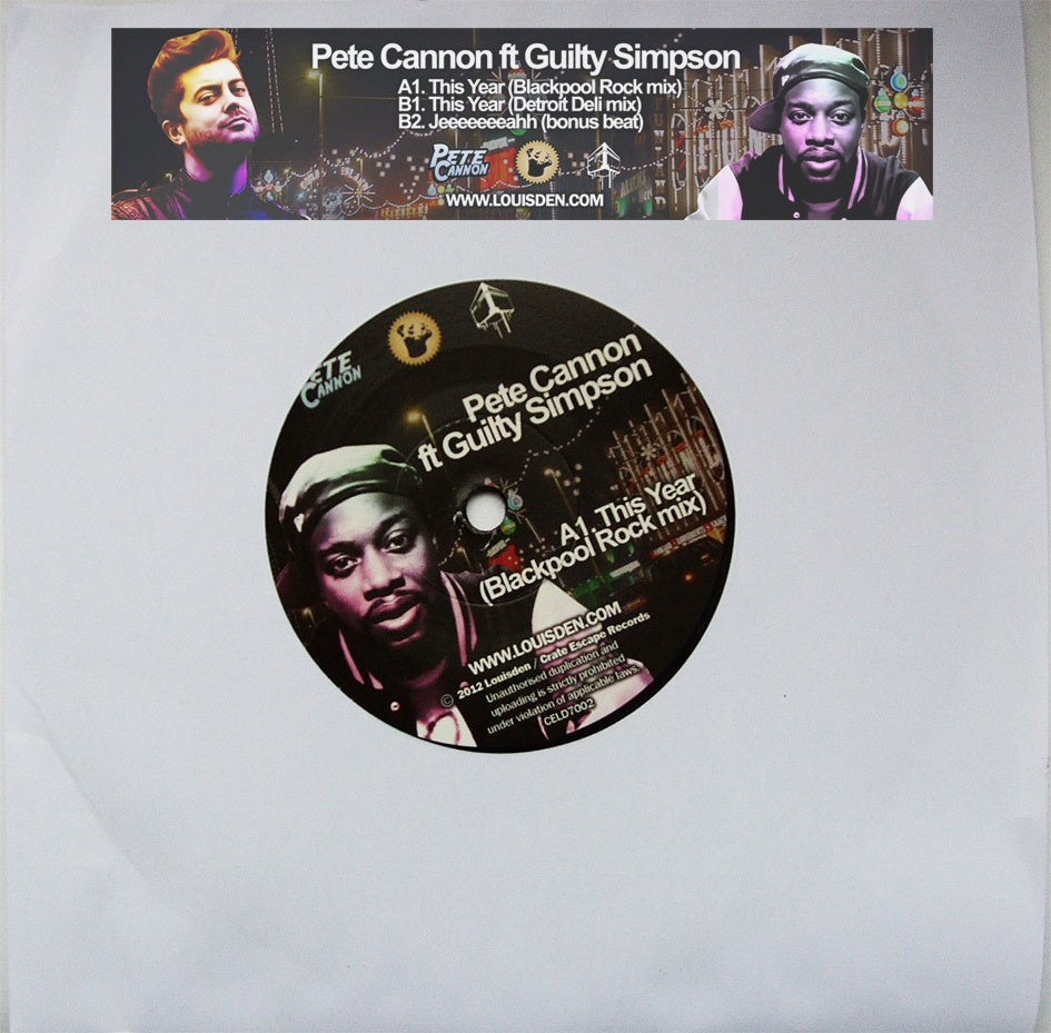 """Image of Pete Cannon feat Guilty Simpson - This Year Ltd Hand Numbered 7"""""""