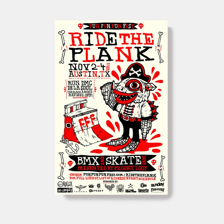 """Image of FFF """"Ride The Plank"""" Poster by Michael Sieben"""