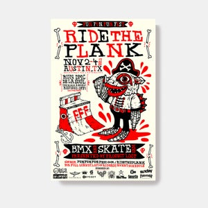 "Image of FFF ""Ride The Plank"" Poster by Michael Sieben"