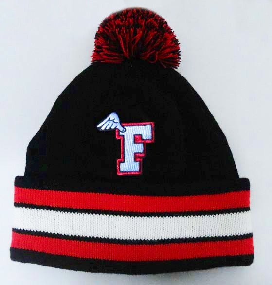 Image of Collegiate Fly Bred Beanie with Pom