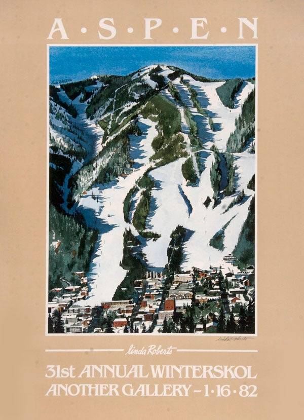 Image of 1982 Aspen Winterskol Vintage Poster