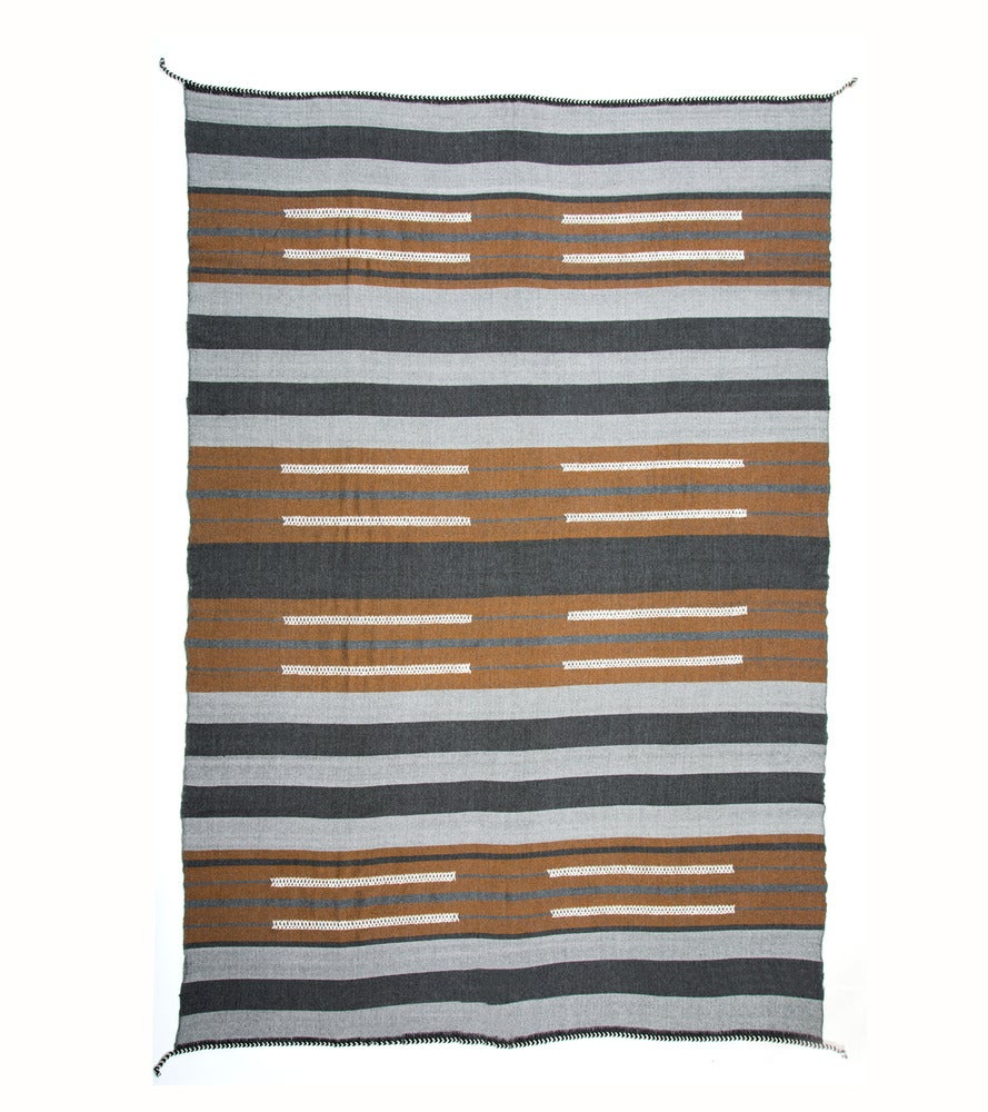 Image of BAU CHIEF BLANKET charcoal | cognac (2012)