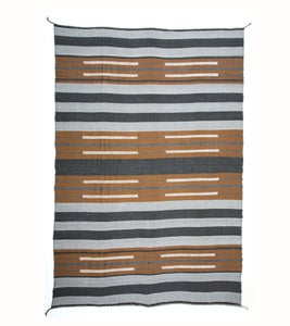 Image of BAU CHIEF BLANKET charcoal/ cognac (2012)