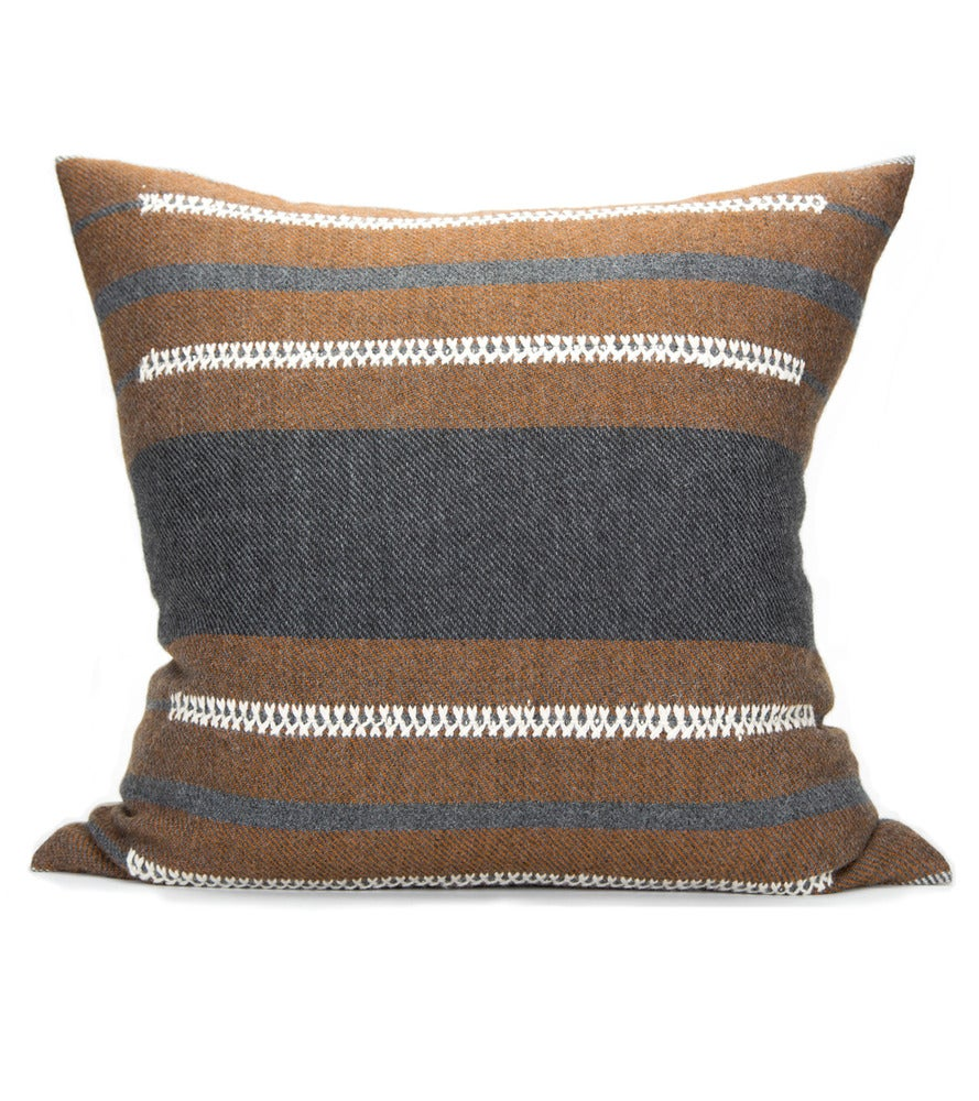 Image of BAU CHIEF PILLOW charcoal/cognac