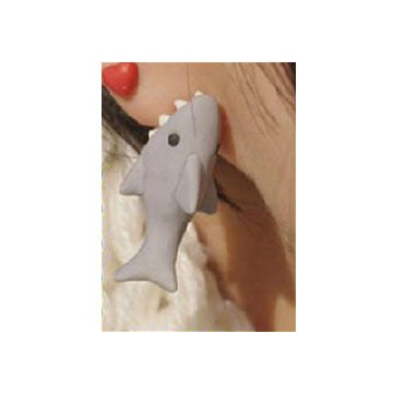 Image of Biting Shark Stud Earings
