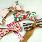 Image of Book Cloth Bow Pins