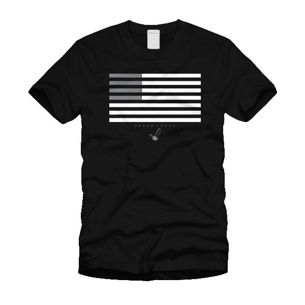 "Image of ""FLAG GREY"" BLACK/TEE"