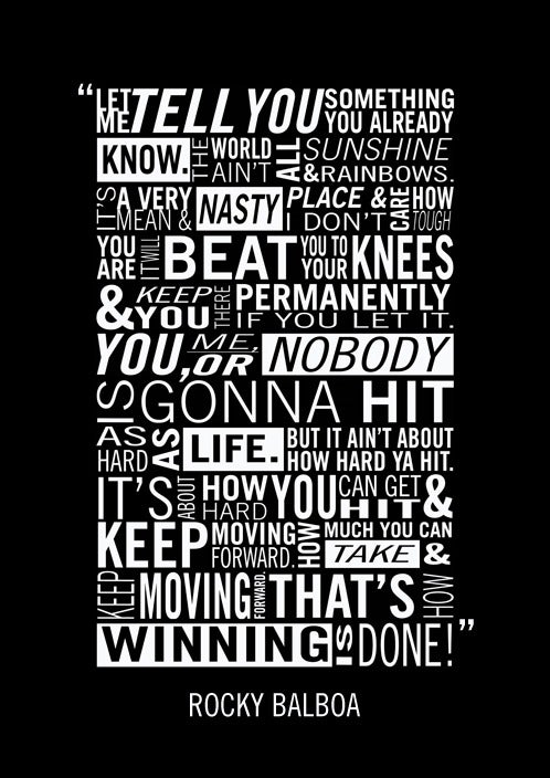 Image of Rocky Balboa Typography Poster by Adam Armstrong