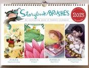 Image of 2013 Storybook Brushes Wall Calendar