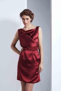 Image of Silk Drape Dress
