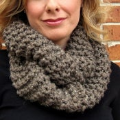 Image of Latte, Hand Knit Infinity Scarf