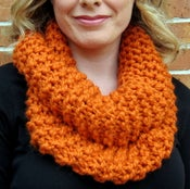 Image of Pumpkin, Hand Knit Infinity Scarf