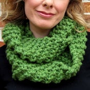 Image of Kelly, Hand Knit Infinity Scarf