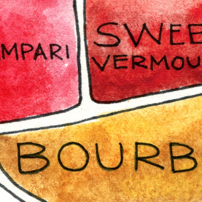 Image of Boulevardier Cocktail Print