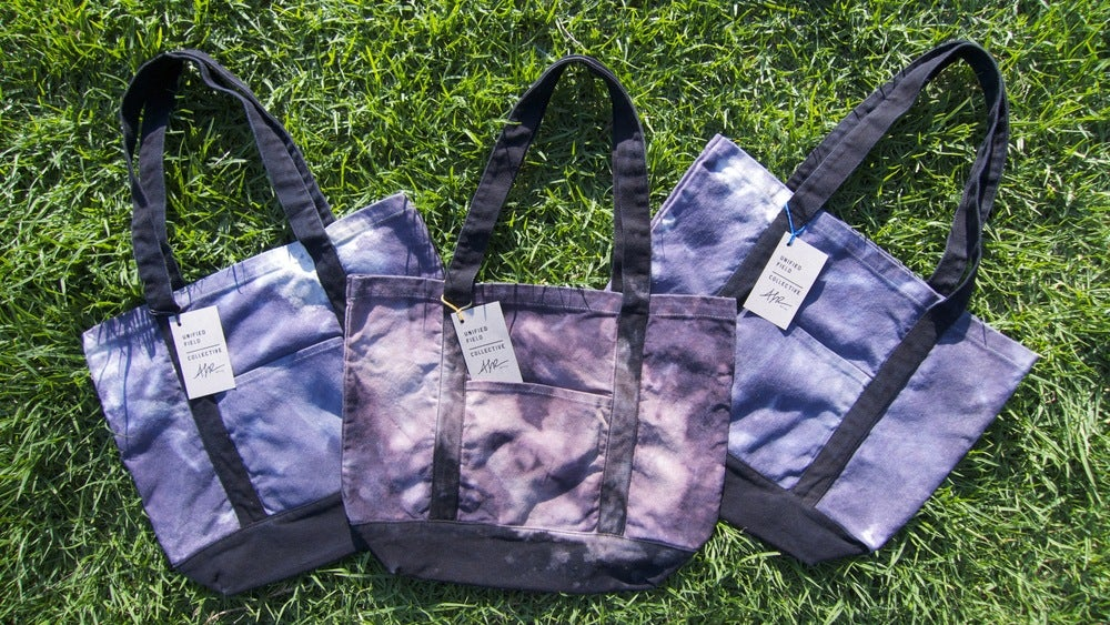 Image of UFC / ALR HAND DYED TOTE BAG - GREY TONES