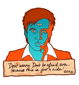 "Image of Bill Hicks ""Teacher"" Art Print by Jermaine Rogers"