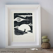 Image of Little Hare, Big Sky Silkscreen Print