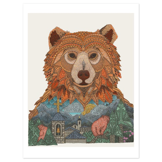 Image of European Brown Bear 40x30cm print