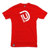 Image of Men's Ultimate Dubs - UD Logo T-Shirt - Red with White Logo